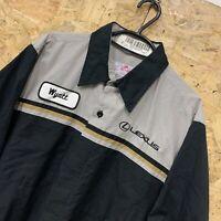 "Red Kap Workwear Work Short Sleeve Shirt Grey Black ""LEXUS"" USA L"