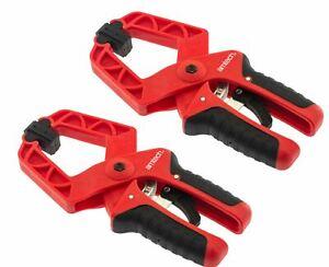 "Amtech 2pc Mini Quick Grip Speed Ratchet Vice Clamps 175mm Rapid Clamp Set 7"""