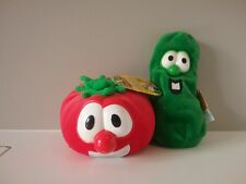 BIG IDEA BOB the Tomato & Lyrick LARRY the Cucumber beanbag plush  VEGGIE TALES