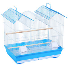23' Blue Triple Roof Bird Cage Portable Bird Cage Cockatiels Bird Travel Cage