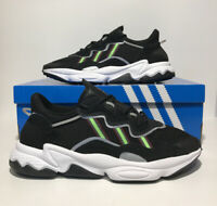 Adidas Ozweego Athletic Mens Size 11 Athletic Sneakers Core Black Solar Green