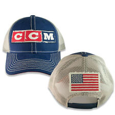 USA Flag Meshback Adjustable Snapback Hat by CCM