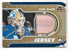 11/12 Between The Pipes Gold Parallel #44 Jake Allen Jersey Card SP/10
