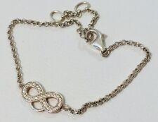THOMAS SABO Charm Club CZ Infinity Charm Carrier Bracelet Sterling Silver