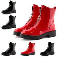 Neu Damen Boots Stiefeletten Stiefel Lack Plateau Kroko-Optik 2046 Schuhe 36-41