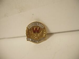 Vintage Winchester Original 5 Year Service Pin 10K Gold Award New Haven ct
