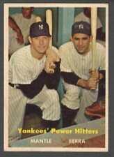 1957 Topps #407 Yankees' Power Hitters  Mantle  Berra  Yankees