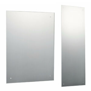 Large Frameless Bathroom Mirror with Pre Drilled Holes & Wall Hanging Fixings