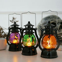 Halloween Led Lantern Vintage Witch Castle Leds Light Lamp Party Hanging Decor