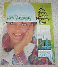1975 print ad - AVON Sweet Honesty Eye Makeup cosmetics CUTE GIRL advertising