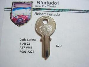 Key Blank for Vintage Citroen, Renault, Simca (see code series)  (62U)