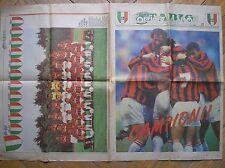 MILAN VINCE SCUDETTO 1992 CAMPIONI CORRIERE DELLO SPORT STADIO 11/5