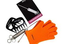 250 ml Hickory Liquid Smoke + Stainless Injector + Gloves + Claws = BBQ Bundle