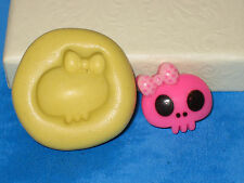 Skull Girl Silicone Mold A463 For Edible Craft Chocolate Resin Clay Fondant
