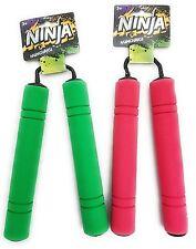 Ninja Nunchucks Foam Toy Pk 2 Green Red Halloween Costume Pretend Play Practice