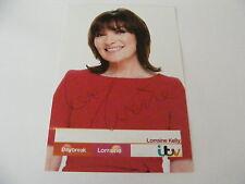 LORRAINE KELLY Signed ITV DAYBREAK Promo Photo Autograph TV Presenter