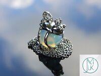 Opalite Frog Manmade Gemstone Pendant Necklace 50cm Healing Stone Chakra