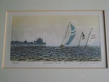 Limited Edition Etching.Summer Sails John McNulty / Mc Nulty.Eastbourne Pier ?