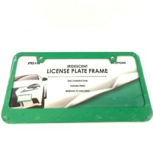 Green Zinc License Plate Frame Car Tag