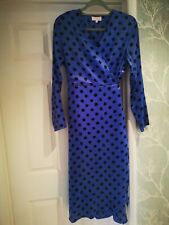 Ladies wrap dress size 16 SILK Fred  WORN ONCE