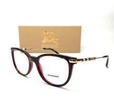 Burberry BE2255Q 3657 Havana On Bordeaux Demo Lens Women Eyeglasses Frame 51mm