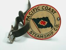 Antique Pacific Coast Steamship Carl Bergman Luggage Tag Seattle History