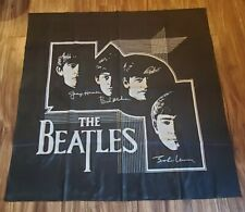"""Vtg 90s The Beatles Tapestry Wall Picture 44""""x 46"""" Black ~ lot x576"""