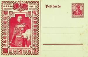 GERMANY 1913 PRE WWI KAISER WILHELM ILLUSTRATED 10pf UNUSED POSTAL CARD