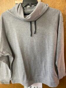 Nike Woman's Cowl Neck Sweatshirt Size XL Gray