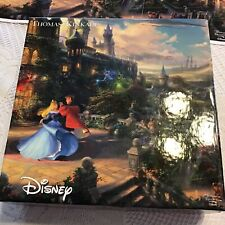 Thomas Kinkade Sleeping Beauty Enchanted Puzzle 750 pc WITH Puzzle POSTER
