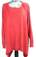 Carolyn Taylor Womens Red Pullover Sweater Long Sleeve Size 3XL