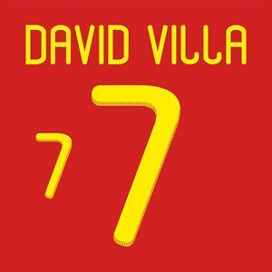 David Villa 7. Spain Home football shirt 2010 - 2011 FLEX NAMESET NAME SET PRINT