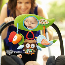 SKIP HOP Baby TREETOP FRIENDS COT Pram Stroller BAR Rattle TOY w/ MIRROR NEW