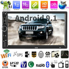 "2 DIN Android 9.1 Car Stereo 7"" Quad Core GPS Navigation WiFi USB AUX MP5 Player"