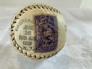 Cooperstown RARE First Day Canceled Stamp June 1939 Baseball Centennial LOOK!