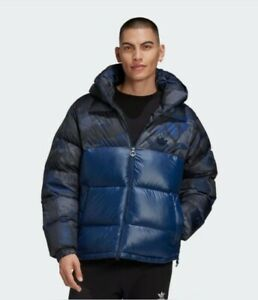 Adidas Originals Down Regen Camo Jacket Men's Blue Camo Outwear Puffer