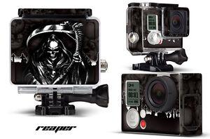 Skin Stickers for GoPro Hero 3+ Camera & Case Decal HERO3+ Go Pro REAPER BLACK
