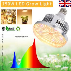 150W E27 LED Grow Light Bulb Sunlike Full Spectrum Hydroponic Plant Growing Lamp