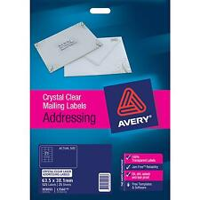 Avery Label 959055 L7560 Address Clear 21up Pk25