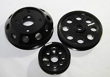 BLACK Crank Pulley Kits for 89-98 240SX SR20 ENGINE S14 S15 ONLY