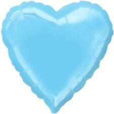 "18"" Solid Light Blue Heart Shape Balloon Wedding Baby Shower Birthday Over Hill"