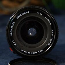 Nice PROMASTER SPECTRUM 7 (Tokina) 28mm f1:2.8 Wide Angle Lens Canon FD  Mount