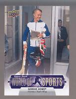 GORDIE HOWE SP Hockey 2011 UPPER DECK WORLD OF SPORTS CARD # 371