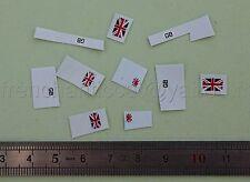 AD Véhicule miniature 1/43 decalcomanie drapeau GB britain Heco garage dioarama