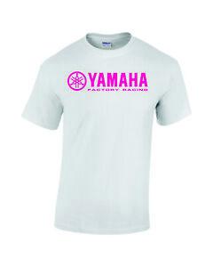 Yamaha Factory Racing Logo T Shirt Apparel Motorbike Motorcycle White Unisex