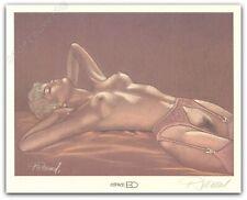 Ex-libris Renaud Jessica Blandy Nue sur le dos Signé 20,4x25,5 cm