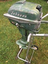 Vintage Johnson 5-1/2 Hp 5.5 hp  Outboard Boat Motor Model CD 10