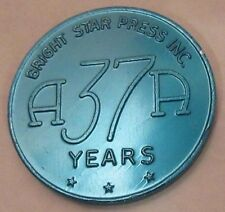 Alcoholics Anonymous 37 year Aluminum Token Medallion Chip Coin Sobrity Sober