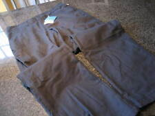 NWT - Mens COLUMBIA Black Cotton Flat Front Pants BROWNSMEAD (34 x 34)