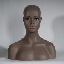 New Realistic Mannequin Head Fiberglass Hat Glasses Mold Stand Torson Wig heiren
